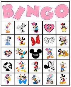 Minnie and Mickey Bingo game.