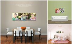Canaberra photographer Christie Nelson used the wall guides to created a post on her blog announcing to her clients that she now offers wall display design to her clients.