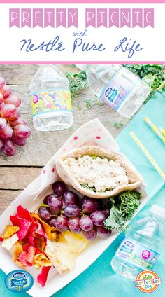 """Throw a picnic with kid-friendly food and healthy hydration. NESTLÉ Pure Life Kid Designed Edition bottles make drinking water feel extra special. Bottles feature winning designs from the brand's 2016 """"Share Your Smile"""" contest. Find out what's on the menu at Kids Activities Blog."""