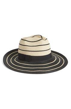 Halogen Striped Panama Hat