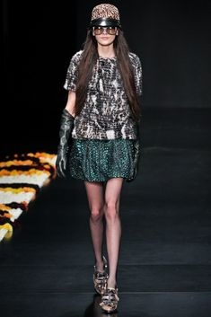 Roberto Cavalli Fall 2012 Ready-to-Wear Fashion Show - Melissa Stasiuk