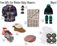 Fun Gifts for Winter Baby Showers (Boys) - babyshower.com