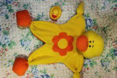 """Игрушки животные, ручной работы. Заказать Комфортер """"Утенок"""". Дафуньчик (Lyubimiya). Ярмарка Мастеров. Комфортер, новорожденному, игрушка для малыша, флис"""