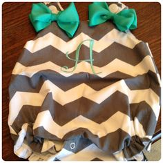 Monogrammed chevron bubbles from Palmetto Patch Kids Etsy shop...when I have a daughter she is wearing this<3