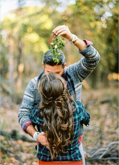 Mistletoe.  I want to get a picture like this. :)
