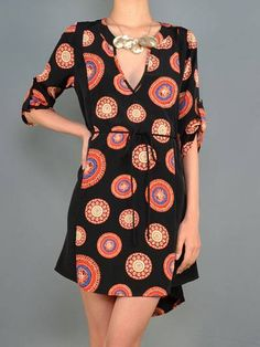 BEAUTIFUL dress! Perfect for the transition from summer to fall, very versatile! To order, visit our website: http://8thstreetboutique.com/collections/new-arrivals/products/printed-black-dress