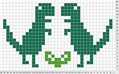 Ravelry: King Dinosaur Chart (for My Favourite Things Scarf) pattern by Lula Lavender