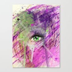 The eye of madness... Stretched Canvas by Emiliano Morciano (Ateyo) - $85.00