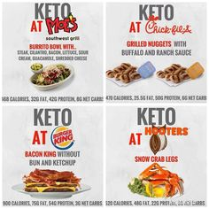 Keto Fast Food, Keto Snacks, Keto Foods, Keto Carbs, Low Carb Keto, Bariatric Recipes, Keto Recipes, Keto Restaurant, Keto On The Go
