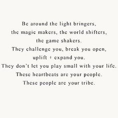 The older I've gotten, the more & more I agree with this. It's so important to find those people who love you but who push you to greatness. And who push you to not settle. And who remind you that sometimes good is good enough. What matters is that you showed up and tried. The people who provide support & synergy & laughter & love. These are the people you hold onto ✨Tag those who lift your spirits & hearts Just tagged some of my favorites on & offline xxo