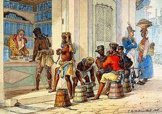 Pintura de Debret ilustra escravos no Brasil Colônia / Reprodução (Retratos na Missão Artśitica Francesa)