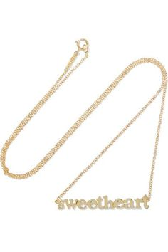 Jennifer Meyer - Sweetheart 18-karat Gold Necklace - one size