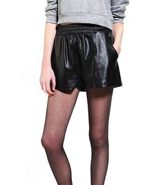 @Who What Wear - Evil Twin                  Resistance Vegan Leather Runner Short ($74)