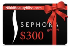 $300 Sephora Gift Card! https://www.bloggiveawaydirectory.com/giveaway/300-sephora-gift-card/?utm_content=buffere766f&utm_medium=social&utm_source=pinterest.com&utm_campaign=buffer #makeup #instamakeup #cosmetic #cosmetics #fashion #eyeshadow #lipstick #gloss #mascara #palettes #eyeliner #lip #lips #tar #concealer #foundation #powder #eyes #eyebrows #lashes #lash #glue #glitter #crease #primers #base #beauty #beautiful
