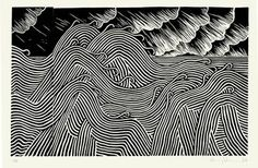 drawdrawdraw: Stanley Donwood: drawing / screenprinting