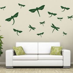 """Style and Apply Dragonfly Set Wall Decal Size: 24"""" H x 24"""" W, Color: Copper"""
