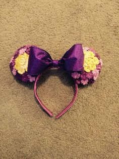 Rapunzel Inspired Minnie Mouse Ears by MythicalHandmades on Etsy
