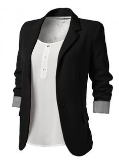 downtown - boyfriend blazer X feminine lace - style blog for women ...