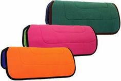 """Abetta Polar Fleece Reversible Pad by ABETTA. $32.50. Durable Polar Fleece Pads with Great Colors Reversible saddle pad with an acrylic fleece outer, hair felt center, and bound edges. Made with high-quality materials. 30"""" x 32""""."""