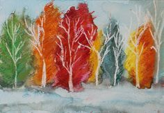 ABBY PERRINS ART 'WHITE TREES' www.abbyperrinsart.co.uk