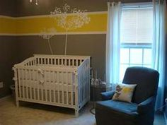 Gray with yellow accent, white stencil