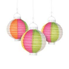 Beach Ball Light-Up Paper Lanterns - OrientalTrading.com