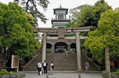 Oyama shrine, Kanazawa, pref. de Ishikawa. Honsu, Japón