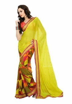 Fabdeal Indian Designer Georgette Yellow Printed With Lace Border Saree Fabdeal, http://www.amazon.de/dp/B00INWQ5VA/ref=cm_sw_r_pi_dp_qp8otb0XEF0GM