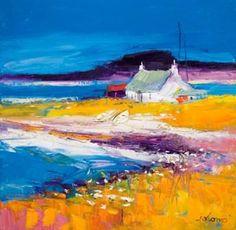 Limited Edition Prints Artist John Lowrie Morrison (Jolomo) - Beached Boats Isle of Harris Landscape Art, Landscape Paintings, Impressionist Landscape, Paintings I Love, Acrylic Art, Oeuvre D'art, Kitsch, Framed Art Prints, Art Gallery