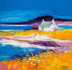 John Lowrie  Morrison (Jolomo) - Beached Boats Isle of Harris from the www.redraggallery.co.uk online limited edition prints gallery.