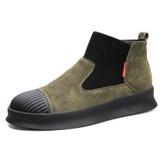 the latest 5bb5d 8bdae High-quality Men Suede Stylish Elastic Band Portable Slip On Casual Ankle  Boots - NewChic Mobile