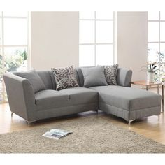 Ricordi Modern Stainless Steel/ Fabric Sectional | Overstock.com Shopping - Big Discounts on Sectional Sofas