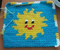 Crochet Potholder Patterns, Crochet Squares, Knitted Slippers, Washing Clothes, Emoji, Diy And Crafts, Knit Crochet, Coin Purse, Elephant