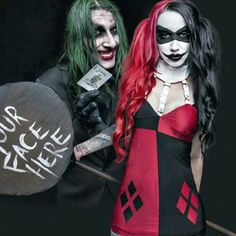 Chris Motionless & Ash Costello as The Joker & Harley Quinn. Omg I can't breath, this is too perfect.