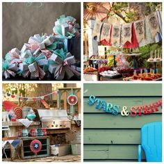 yahoo patriotic party, fourth of july, taco party, red white blue, vintage party, 4th of july, independence day, parti, vintage decorations