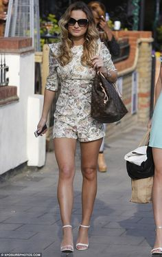 Sam Faiers  http://www.chicempireclothing.co.uk/product/sam-faiers-cream-floral-vintage-playsuit