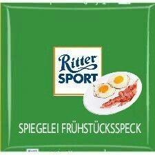Ritter Sport lustig witzig Sprüche Bild Bilder Frühstücksei mit Speck Sport Funny, Trick R Treat, Sports Memes, Puns, Haha, Jokes, Chocolate Dreams, Twitter, Drink