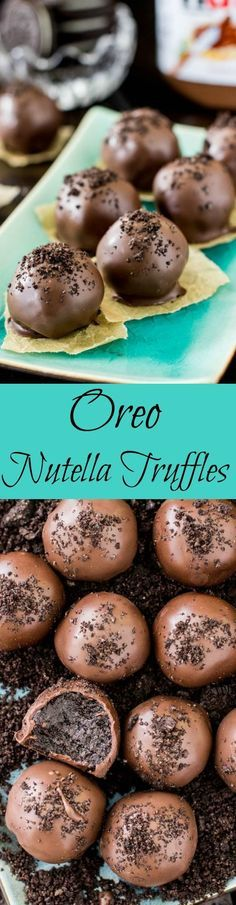Satisfy your chocolate cravings with these decadent Nutella dessert recipes. These Nutella desserts are sure to impress friends and family alike! Candy Recipes, Sweet Recipes, Baking Recipes, Paleo Recipes, Snacks, Desert Recipes, Holiday Baking, Chocolates, Easy Desserts