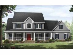 Floor Plans AFLFPW09337 - 2 Story Country Home with 4 Bedrooms, 3 Bathrooms and 3,000 total Square Feet