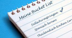 Wie schreibst du eine Bucket List und wie findest du Ideen dafür? Lade dir die kostenlose Bucket List Vorlage herunter und fange an, dein Leben zu genießen!