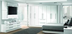 #white #gloss #wardrobes #decor #design #furniture #interior #living #bedroom #style #stylish #colours