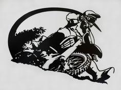 Motocross Rider Metal Wall Art by SunsetMetalworks on Etsy