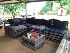 Patio Sectional out of pallets