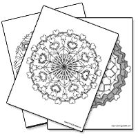 Lots of printable mandalas here for #arttherapy prompts #stress reduction