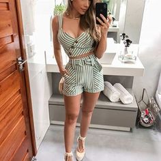 Pin by khan on tops in Short Outfits, Boho Outfits, Pretty Outfits, Spring Outfits, Dress Outfits, Girl Outfits, Fashion Outfits, Womens Fashion, Look Star