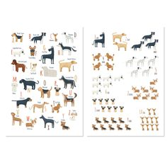 Dog breeds Alphabet and numbers set wall art. Alphabet Wall Art, Animal Alphabet, Alphabet And Numbers, Printing Services, Online Printing, Sites Like Etsy, Personalised Photo Cards, Craft Sites, Rainbow Nursery