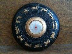 Vintage Foreign Zodiac Star Sign Thermometer circa 1960's Purchase in store here http://www.europeanvintageemporium.com/product/vintage-foreign-zodiac-star-sign-thermometer-circa-1960s/