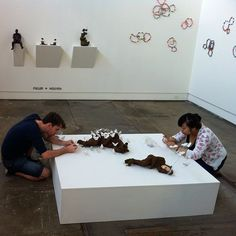 Mylyn Nguyen + Todd Fuller Putting the finishing touches on their collaborative works for #intandem
