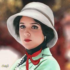 عکس نقاشی بسیار زیبا از چهره معصوم خانم ترانه علیدوستی در نقش شهرزاد