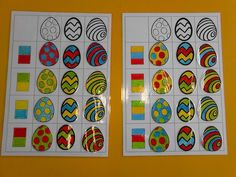 Tableau Easter Activities For Kids, Math For Kids, Easter Crafts For Kids, Preschool Activities, Visual Perception Activities, Spring Projects, Art N Craft, Kids And Parenting, Kids Learning